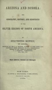 Cover of: Arizona and Sonora by Sylvester Mowry
