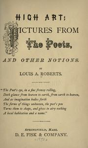 Cover of: High art | Louis A. Roberts