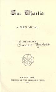 Cover of: Our Charlie | Charles Thurber