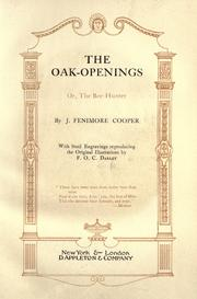 Cover of: Oak Openings by James Fenimore Cooper