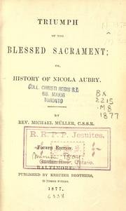Cover of: Triumph of the blessed sacrament by Michael Müller