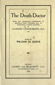 Cover of: The death-Doctor | Laurence Lanner-Brown