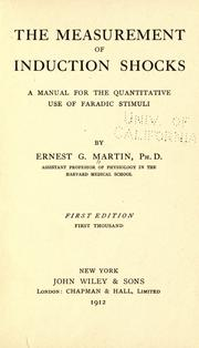Cover of: The measurement of induction shocks by Martin, Ernest Gale