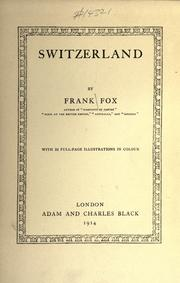 Cover of: Switzerland | Frank Fox