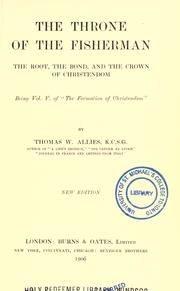Cover of: The throne of the fisherman | T. W. Allies