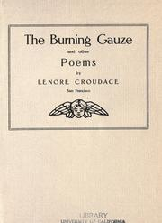 Cover of: The burning gauze | Lenore Croudace