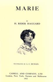 Cover of: Marie | H. Rider Haggard