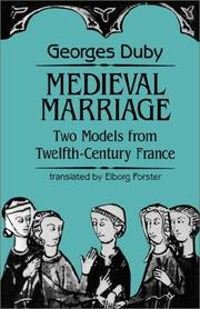 Cover of: Medieval marriage by Georges Duby