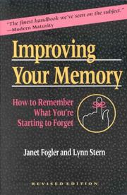 Cover of: Improving your memory by Janet Fogler