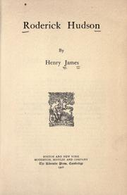Cover of: Roderick Hudson by Henry James, Jr.