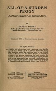 Cover of: All-of-a-sudden Peggy by Denny, Ernest