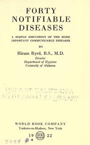 Cover of: Forty notifiable diseases | Hiram Byrd
