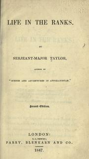 Cover of: Life in the ranks by William Taylor