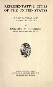 Cover of: Representative cities of the United States | Caroline Woodbridge Hotchkiss