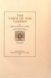 Cover of: The voice of the garden | Abram Linwood Urban