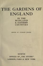 Cover of: The gardens of England in the midland & eastern counties | Charles Holme