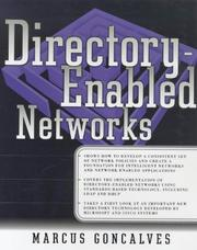 Cover of: Directory-Enabled Networks (Networking) | Marcus Goncalves