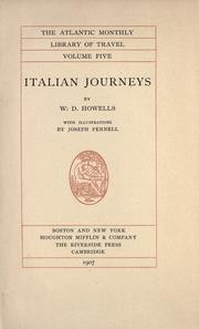 Cover of: Italian journeys by William Dean Howells