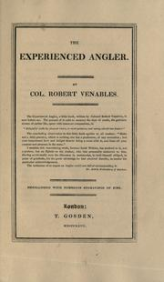 Cover of: The experienced angler | Venables, Robert