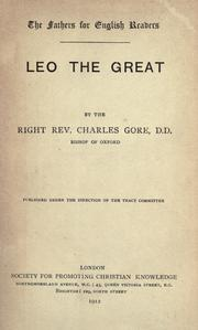 Cover of: Leo the Great | Gore, Charles