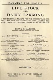 Cover of: Live stock and dairy farming | Frank D. Gardner