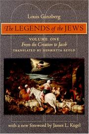 Cover of: The Legends of the Jews by Louis Ginzberg
