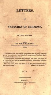 Cover of: Letters, and sketches of sermons by John Murray