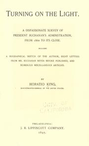 Cover of: Turning on the light by Horatio King