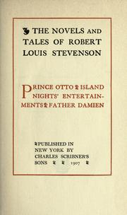 Cover of: Prince Otto | Robert Louis Stevenson