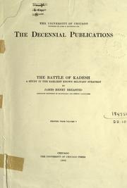 Cover of: The battle of Kadesh | James Henry Breasted