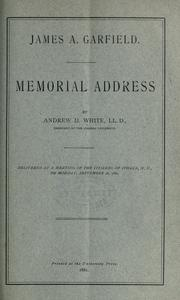 Cover of: James A. Garfield by Andrew Dickson White