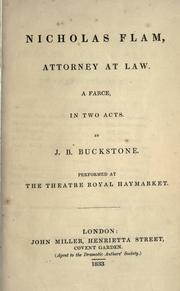 Cover of: Nicholas Flam, attorney at law by Buckstone, John Baldwin