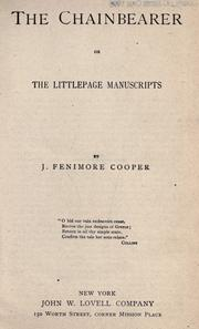 Cover of: The chainbearer by James Fenimore Cooper