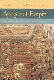 Cover of: Apogee of Empire | Stanley J. Stein