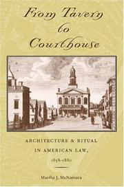 Cover of: From Tavern to Courthouse | Martha J. McNamara
