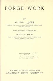 Cover of: Forge work | William Lewis Ilgen