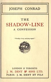 Cover of: The shadow-line by Joseph Conrad
