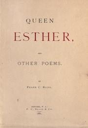 Cover of: Queen Esther | Frank Chapman Bliss