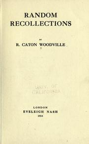 Cover of: Random recollections | Woodville, Richard Caton