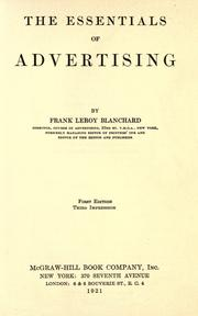 Cover of: The essentials of advertising by Frank Le Roy Blanchard