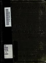 Cover of: King Richard II | William Shakespeare