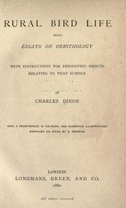 Cover of: Rural bird life | Dixon, Charles