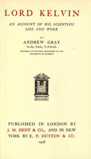 Cover of: Lord Kelvin | Andrew Gray
