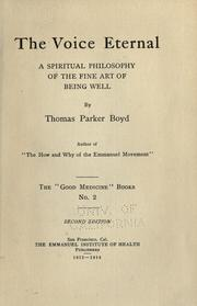 Cover of: The voice eternal | Thomas Parker Boyd