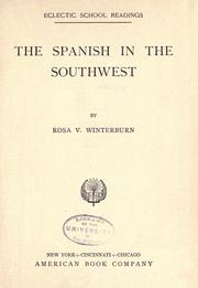 Cover of: The Spanish in the Southwest by Rosa V. Winterburn