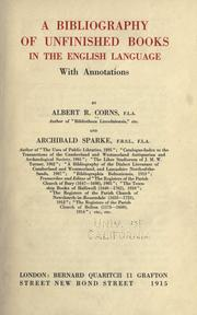 Cover of: A bibliography of unfinished books in the English language by Albert R. Corns