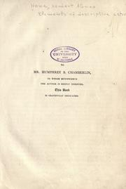 Cover of: Elements of descriptive astronomy by Howe, Herbert A.