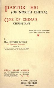 Cover of: Pastor Hsi (of North China) by Mary Geraldine Guinness Taylor