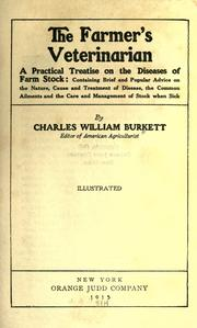 Cover of: The farmer's veterinarian | Burkett, Charles William