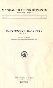 Cover of: Inexpensive basketry | William Samuel Marten